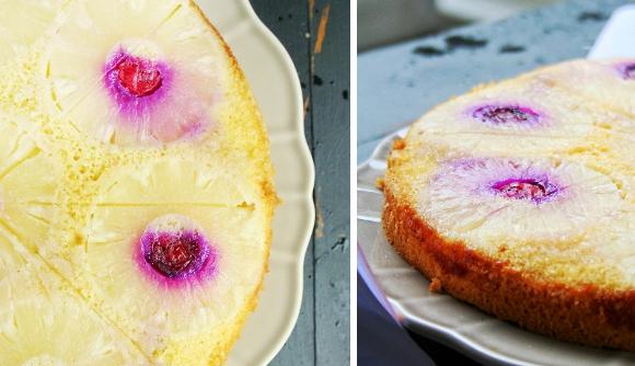Odwrócone ciasto z ananasem
