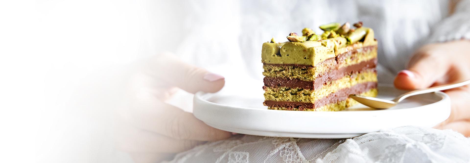 Ciasto z pistacjami i czekoladą